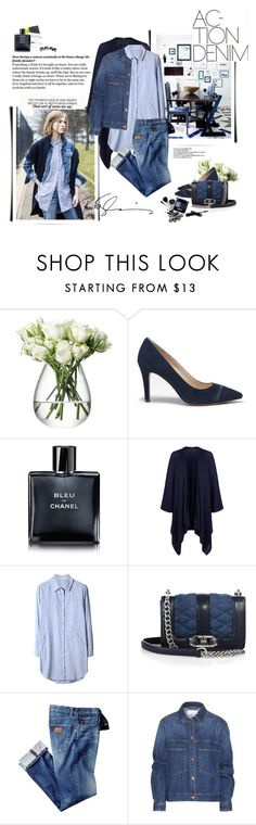 """Denim on denim."" by yexyka ❤ liked on Polyvore featuring CENA, LSA International, Sole Society, Edie Parker, Chanel, Harrods, Rebecca Minkoff, Étoile Isabel Marant and Maison Margiela"