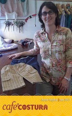 Anne-Sophie - Mini calças. A Anne-Sophie é muito caprichosa...