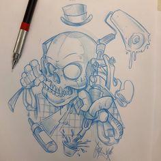Quickie  #ozer #tatouage #tattoo #graffiti #loveletters #ironink #nantes #westcotedeporc # skull