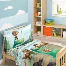 Disney Pixar The Good Dinosaur Prehistoric Footprints 4 Piece Toddler Bedding Set