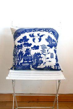 Bon Boutique Store — blue willow pillow