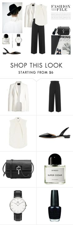 """Spring Layers"" by nmkratz ❤ liked on Polyvore featuring Alexander Wang, Jil Sander Navy, Carven, Byredo, Daniel Wellington, OPI and MIJA"