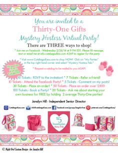 Mod Thirty One Party Invitation Printable Greeting Card For Your