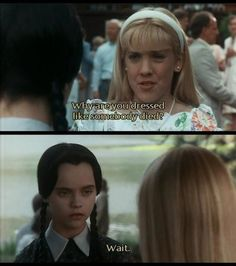 And did her best to rally other glorious women to her cause. 19 Times Wednesday Addams Was A Total Misandrist The Addams Family, Addams Family Values, Movie Quotes, Funny Quotes, Funny Memes, Hilarious, Wednesday Addams, Wednesday Wisdom, Morticia Addams