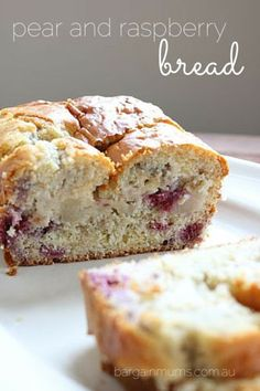 This Pear and Raspberry Bread is perfect for those times you feel like cake, but really don't want anything too sweet. Raspberry Bread, Raspberry Recipes, Pear Recipes, Fruit Recipes, Sweet Recipes, Baking Recipes, Cake Recipes, Dessert Recipes, Jelly Recipes