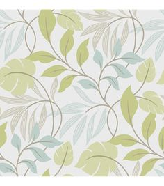 WallPops® NuWallpaper™ Blue and Green Meadow Peel And Stick Wallpaper