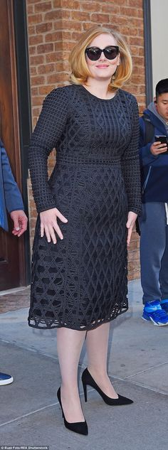 Someone like you: Adele looked every inch the A-list diva as she stepped out in New York on Monday