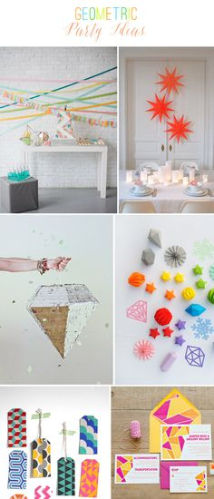 Geometric Party Ideas | Curated at TheCelebrationShoppe.com