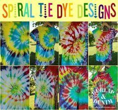 Spiral Tie Dye Designs