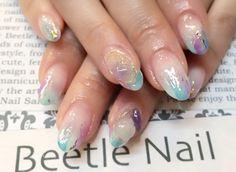 Nail Art - Beetle Nail : 八幡|ホイル&天然石  #ネイル #ビートル近江八幡 #ビートルネイル #ネイル近江八幡