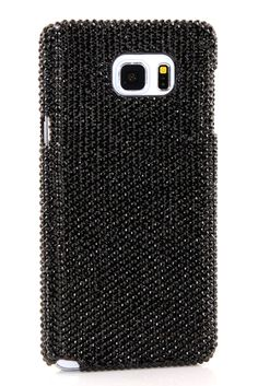 Jet Black Crystals Design Samsung Galaxy Note 5 case crystals apple iPhone phone cover for women