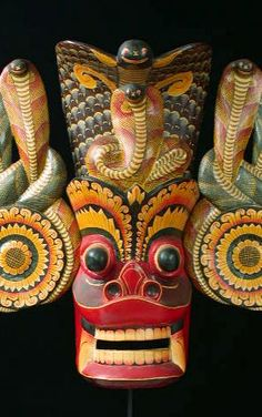 India mask - Old Gurulu, Sri Lanka, Ceylon