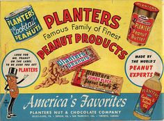 Planters Peanuts #graphicdesign #vintage #ads
