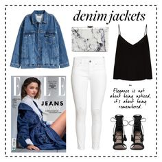 """♡denim jackets♡"" by clarinette38 on Polyvore featuring Kerr®, H&M, Zimmermann, Raey and Balenciaga"