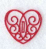 Heart Buttonhole - 1/2 Inch - $1