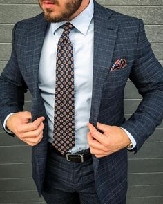 Menswear style to inspire you to mix your patterns. #menssuit