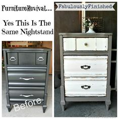 Furniture makeover, before and after, Petticoat Junktion