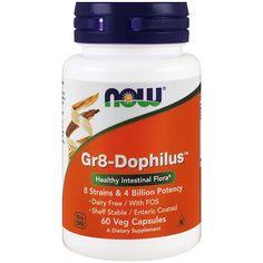 Now Foods, Gr8-Dophilus, 60 капсул в растительной оболочке