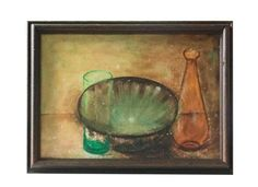 Mid Century Still Life - Bowl and decanter