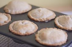 Little pot pies made in a muffin pan! These bad boys are awesome! I used pre-made pillsbury refrigerated pie crust and subbed peas for green beans.