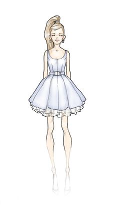 prom dress sketches, 2013