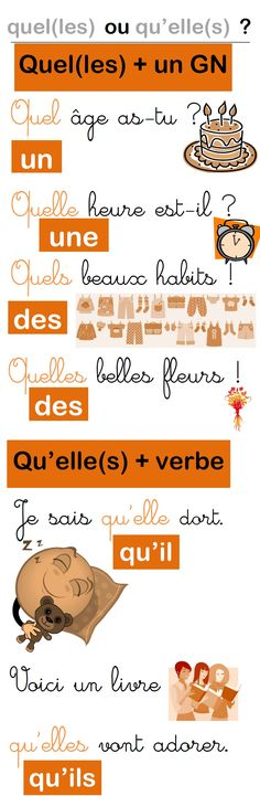 Une affiche pour les homophones quel(les) et qu'elle(s) French Class, French Lessons, Teaching French, French Tips, French Words, French Quotes, How To Speak French, Learn French, Dibujo