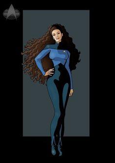 deanna 3 by on deviantART Scotty Star Trek, Star Trek Tv, Star Trek Series, Star Wars, Star Trek Characters, Female Characters, Star Trek Cosplay, Star Trek Images, Star Trek Universe