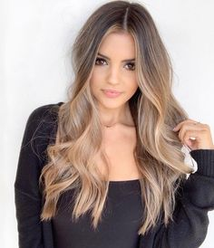 Are you going to balayage hair for the first time and know nothing about this technique? We've gathered everything you need to know about balayage, check! Grey Balayage, Hair Color Balayage, Balayage Hairstyle, Ombre Hair Color, Brown Hair Colors, Hair Colour, Honey Blonde Hair, Brunette Hair, Brown Eyes Blonde Hair