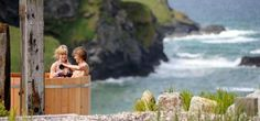 Scarlet Hotel Cornwall cliff top hot tubs. #TheScarletHotelCornwall #EcoHotelCornwallEngland http://www.lecoresorts.com/st_hotel/england-cornwall-eco-hotel-the-scarlet/