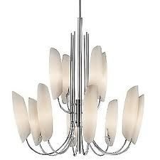 Buy the Kichler Chrome Direct. Shop for the Kichler Chrome Stella Chandelier with 12 Lights - Stem Included - 30 Inches Wide and save. Entry Chandelier, Chandelier Shades, Modern Chandelier, Chandelier Lighting, Direct Lighting, Home Lighting, Modern Lighting, Ceiling Fixtures, Light Fixtures