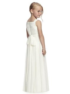 16e11c6f54a A-Line Princess Sleeveless Straps Ruched Floor-Length Chiffon Flower Girl  Dresses Chiffon