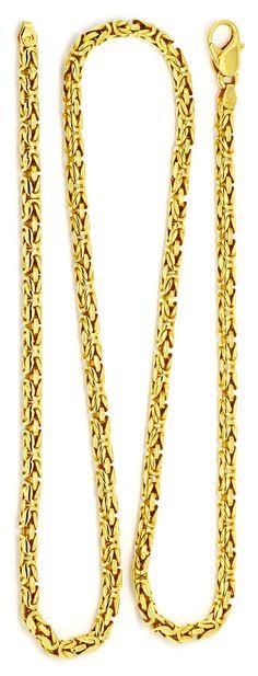 Foto 3, Königskette seltene runde Ausführung, Goldkette 18K/750, K2198