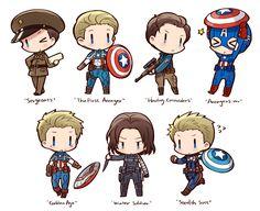 Fanart pixiv Steve Rogers bucky barnes winter soldier Captain America ...