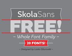 Free font family SkolaSans. Link for download.