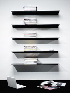 Image result for wall mounted shelving