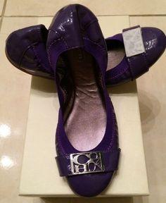 NIB  138 Coach Dora Ballet Flat Purple leather Scrunch bit slip on shoe 6   Coach  BalletFlats 70fd64b5ad9