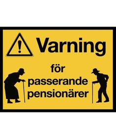 KM056 - Klistermärke - Passerande pensionärer