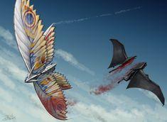 All Godzilla Monsters, Godzilla Comics, Robot Monster, Monster Art, Creature Feature, Creature Design, Mothra Movie, Godzilla Wallpaper, Monster Hunter World