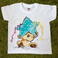 Hand painted Baby Toddler Child T-shirt. Kid's by palettePandora
