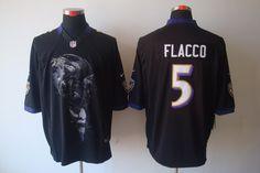 black Joe Flacco Mens Helmet Tri-Blend Limited NFL Baltimore Ravens #5 Jersey