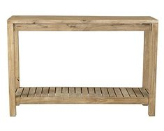 East at Main Quincy Brown Rectangular Rubber wood Console Table, (47.25x13.75x31.5)