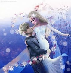 I just wanted to edit this to make this more of a winter edit than a fall edit, credit goes the the original photoshoppers Frozen And Tangled, Frozen Disney, Elsa Frozen, Disney Magic, Dark Jack Frost, Jack Frost And Elsa, Jelsa, Frozen Images, Sailor Princess