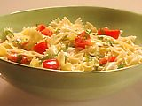 The best pasta salad I've ever had!!  Use 4 lemons and add a little extra olive oil mixed with melted honey and add Parmesan cheese.