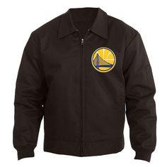 Golden State Warriors JH Design Men's Cotton Twill Workwear Jacket - Black