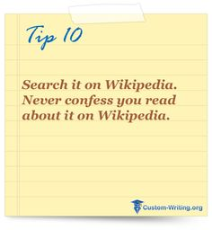Is it ok to use wikipedia on a college essay?
