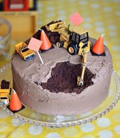 Construction cake. I'm thinking for a little boys birthday party