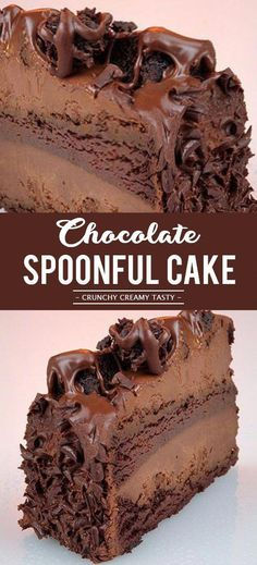 Chocolate Spoonful Cake - - Chocolate Spoonful Cake Recipes to Cook Schokoladenlöffel Kuchen Quick Dessert Recipes, Easy Cake Recipes, Cookie Recipes, Cheap Recipes, Layer Cake Recipes, Brownie Recipes, Pie Recipes, Mini Desserts, Layer Cakes