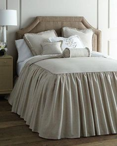 Shop luxury bedding on sale at Horchow. Find amazing deals on clearance luxury bedding, furniture, lamps, fine furnishings, and more. Casa Kardashian, Where To Buy Bedding, Master Bedroom, Bedroom Decor, Bedroom Ideas, Master Suite, Shabby Chic Stil, Ideas Hogar, Bed Linen Sets