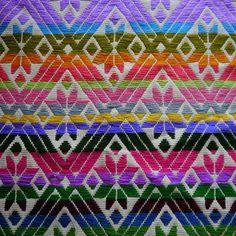 Bordado Hilván  #texturas #colores #hilos #bordado #rombos #flores #amealco #querétaro #hechoamano #hechoenmexico