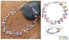 Pearl torsade necklace, 'Party Balloons'. Shop from #UNICEFMarket and help save the lives of children around the world.